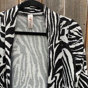 5TH CULTURE zebra print cardigan